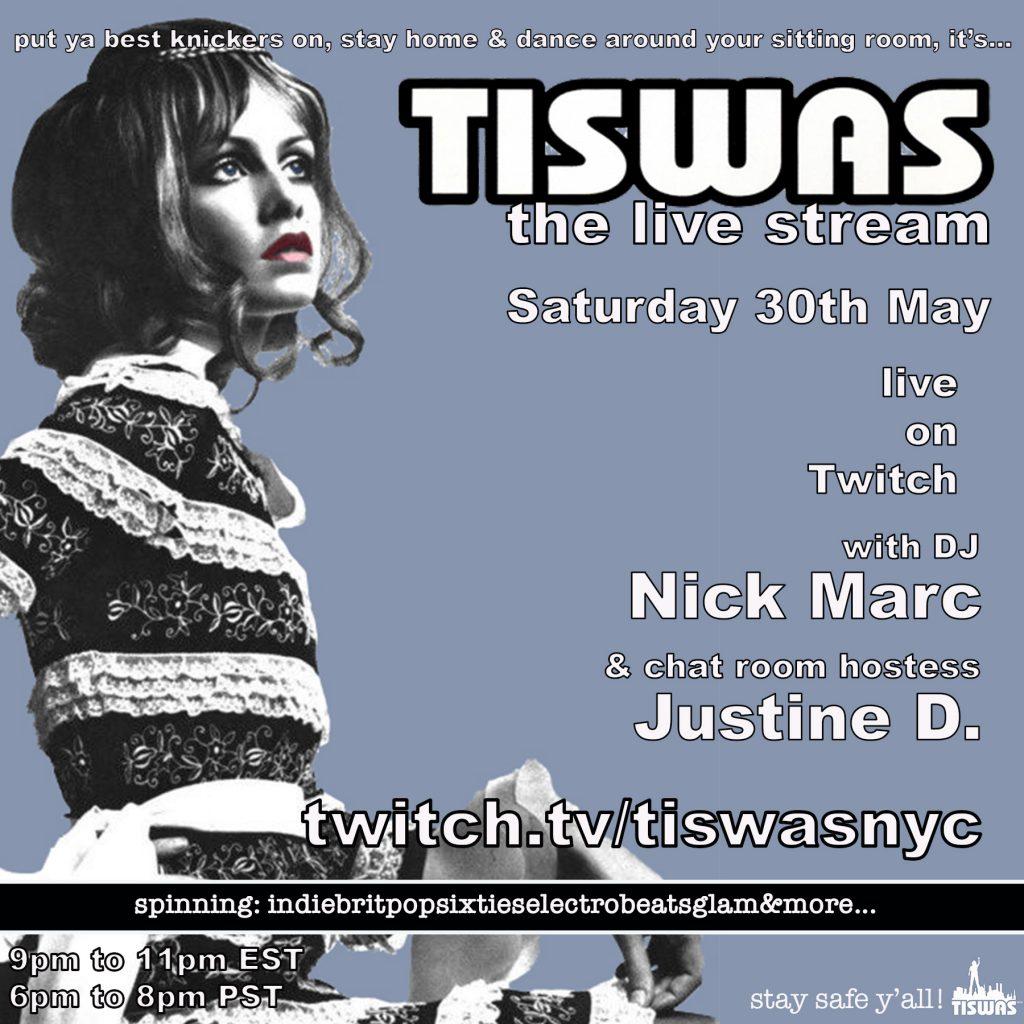 TISWAS live stream 5-30 flyer