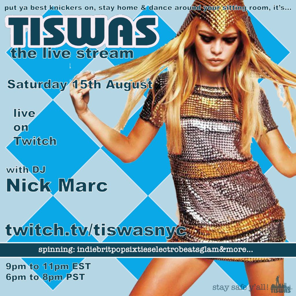 TISWAS live stream 8-15a flyer